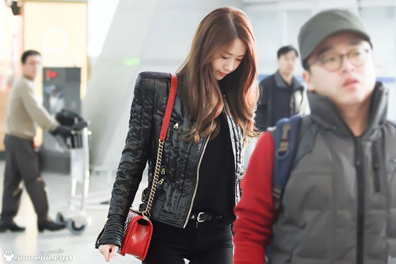 SNSD Yoona Incheon to Bangkok airport fashion