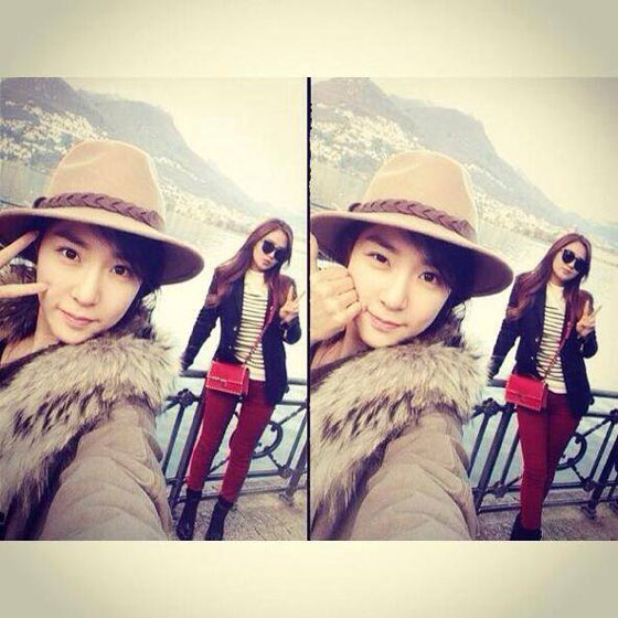 SNSD Yuri Tiffany Lugano Switzerland selca