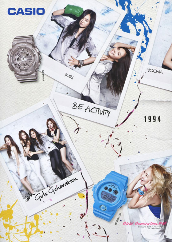 SNSD Casio BabyG 20th anniversary advert