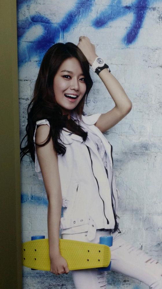 SNSD Sooyoung Baby-G subway ad 2014