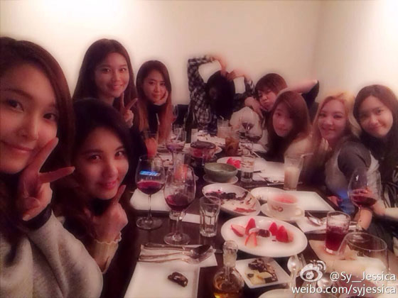 SNSD Jessica and SNSD members Weibo