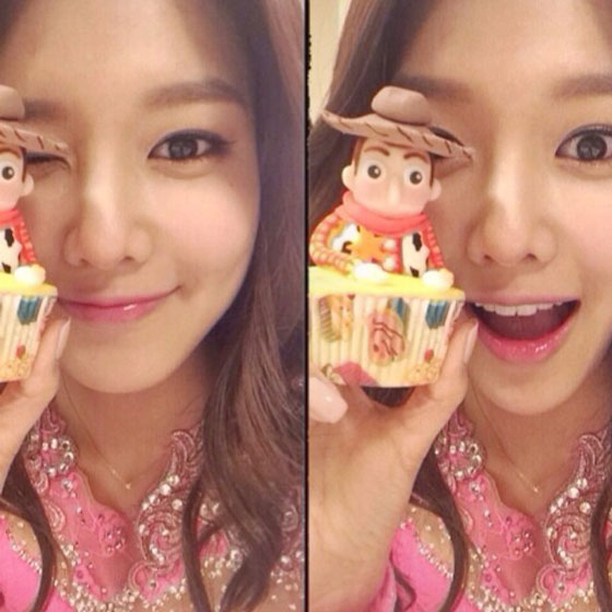 SNSD Sooyoung Instagram selca photo