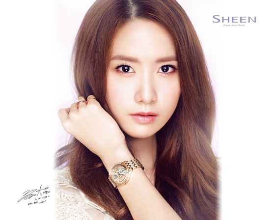 SNSD Yoona Casio Sheen wallpaper