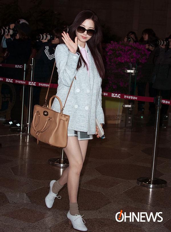 SNSD Seohyun Gimpo Airport fashion 140301