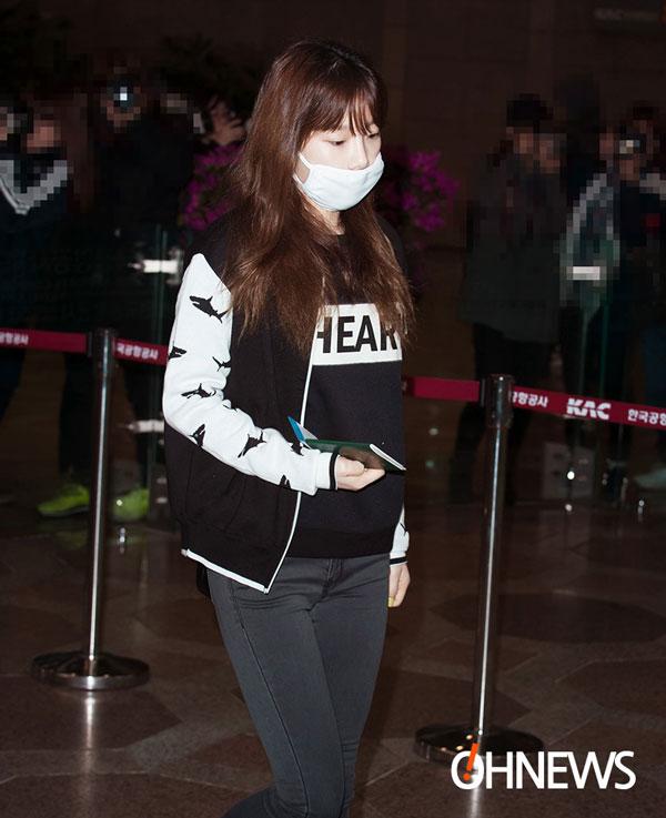 SNSD Taeyeon Gimpo Airport fashion 140301