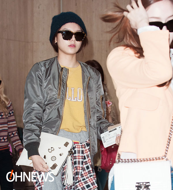 SNSD Sooyoung Gimpo Airport fashion 140303