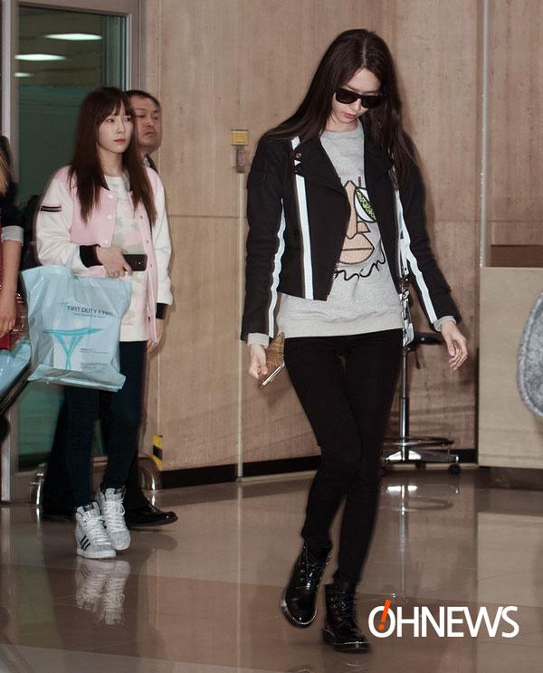 SNSD Yoona Gimpo Airport fashion 140303