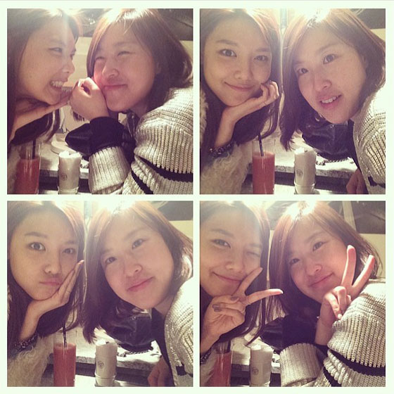 SNSD Sooyoung with friend selca