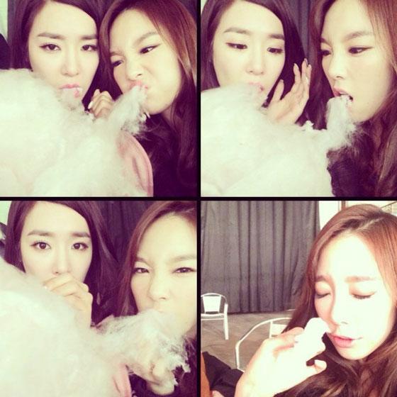 SNSD Taeyeon Tiffany February selca