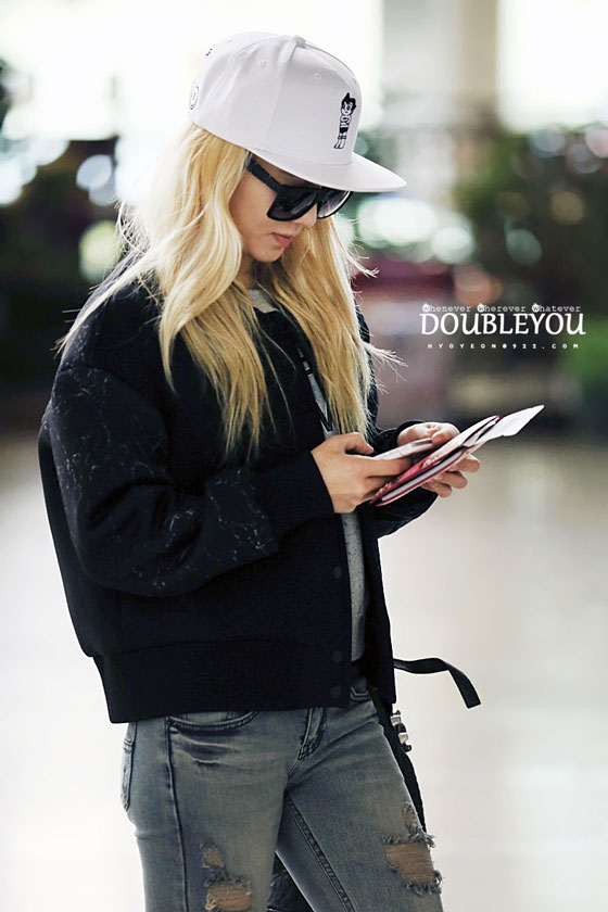 SNSD Hyoyeon Gimpo airport fashion 140301