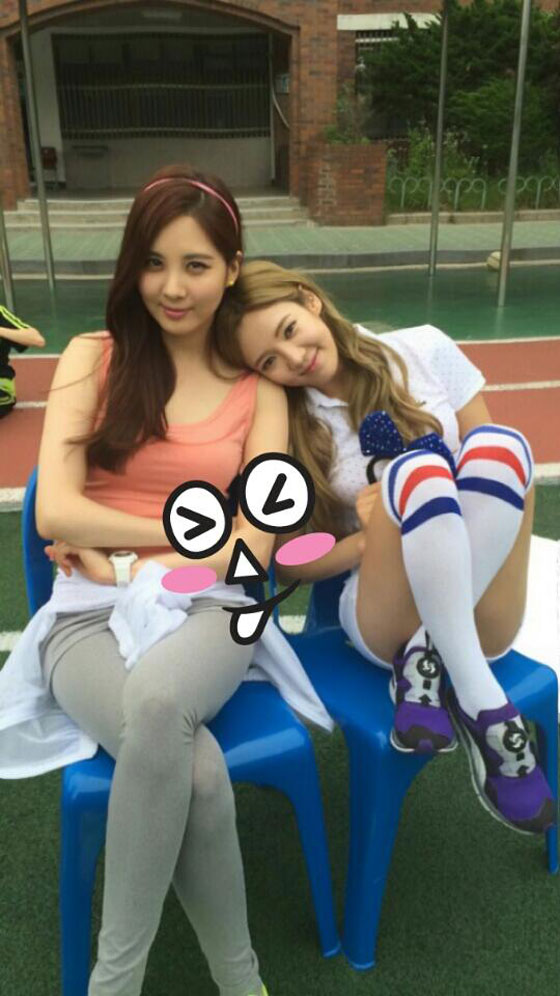 Girls Generation Seohyun Hyoyeon workout