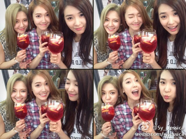 SNSD Hyoyeon birthday selca with Jessica Tiffany