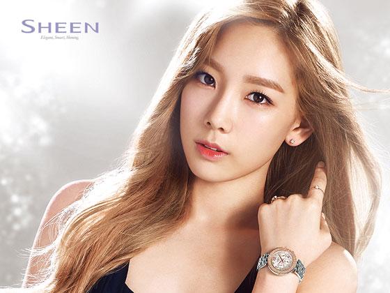 SNSD Taeyeon Casio Sheen wallpaper 2014