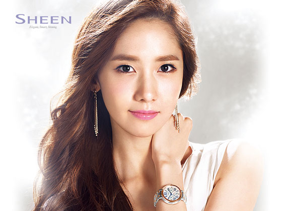 SNSD Yoona Casio Sheen wallpaper 2014