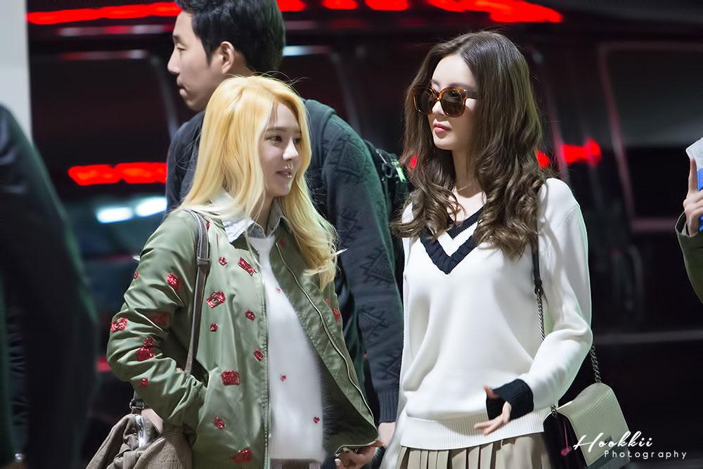 Hyoyeon Seohyun Incheon Airport fashion 141017