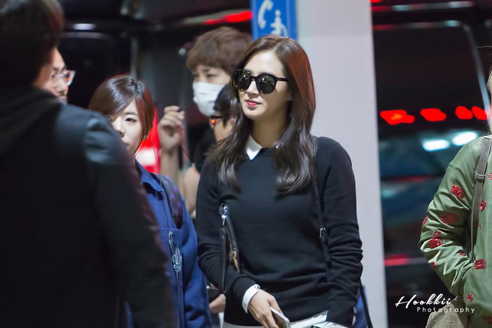 SNSD Yuri Incheon Airport fashion 141017