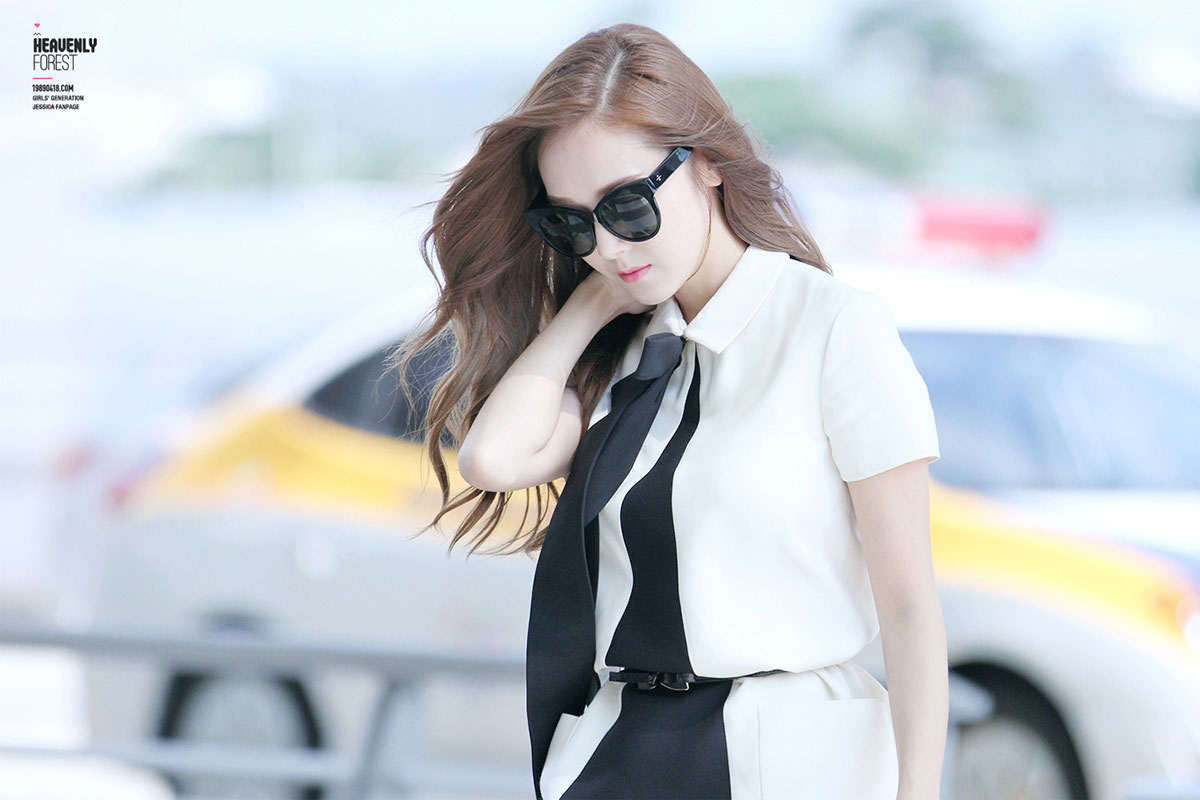 SNSD Jessica Incheon Airport fashion 140904