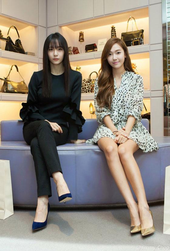 SNSD Jessica Fx Krystal Jimmy Choo event