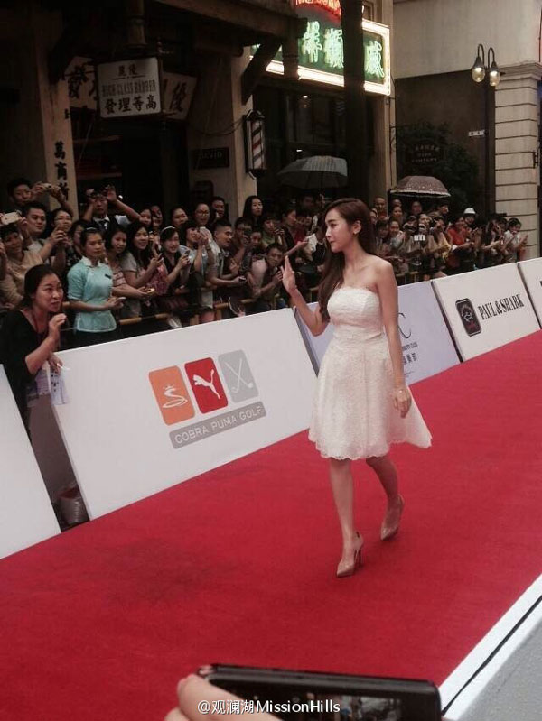 SNSD Jessica Mission Hills Haikou red carpet