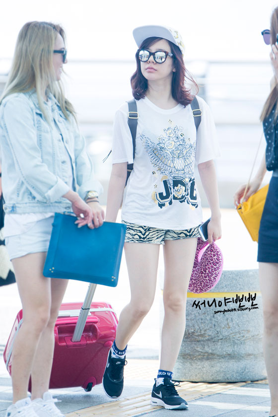 SNSD Sunny Incheon airport fashion 140802