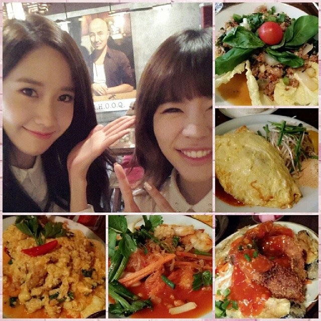 SNSD Sunny Yoona Instagram food date
