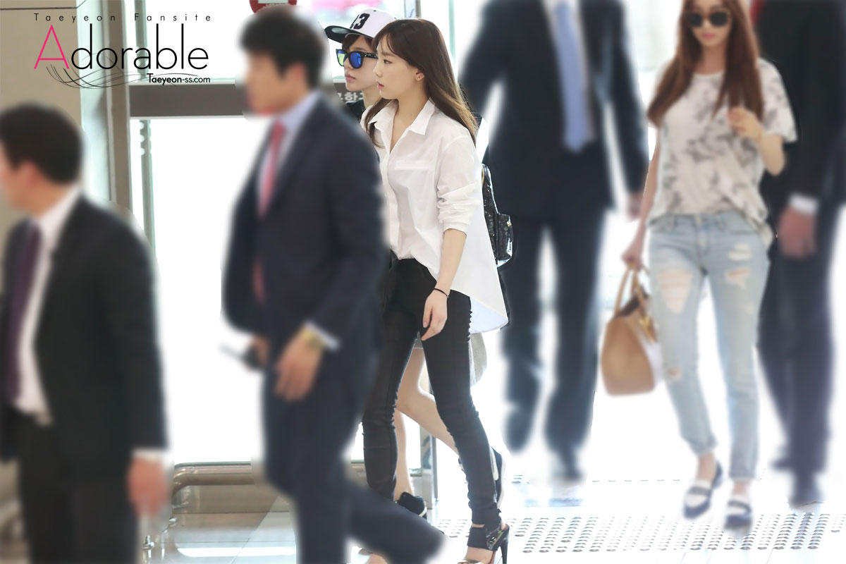SNSD Taeyeon Gimpo airport fashion 140624