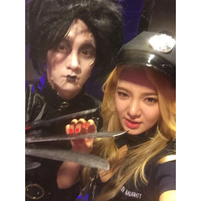 SNSD Hyoyeon Instagram Halloween 2014