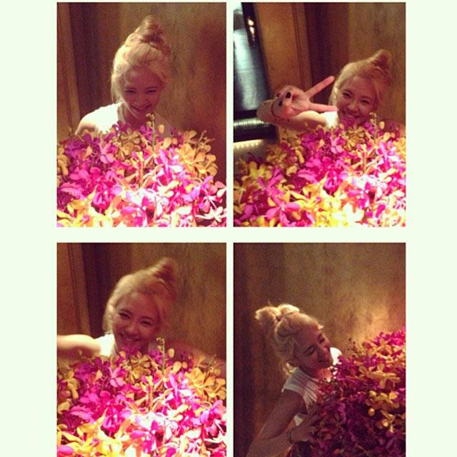 SNSD Hyoyeon Instagram Bangkok flower