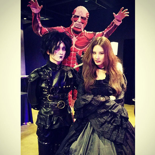 SNSD Seohyun SM Halloween Party Instagram