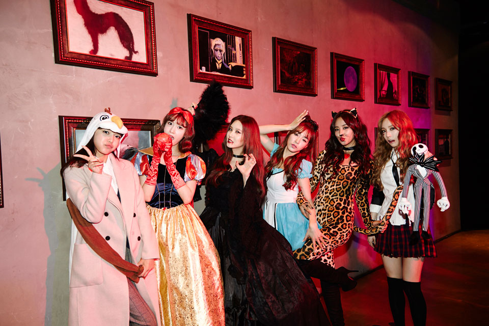 Girls Generation members SMTOWN Halloween Party 2014