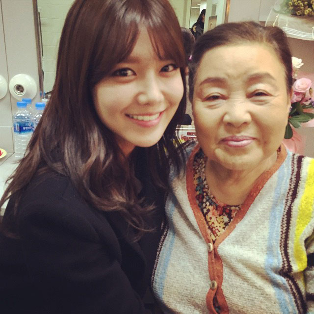 SNSD Sooyoung Instagram Spring Days grandma