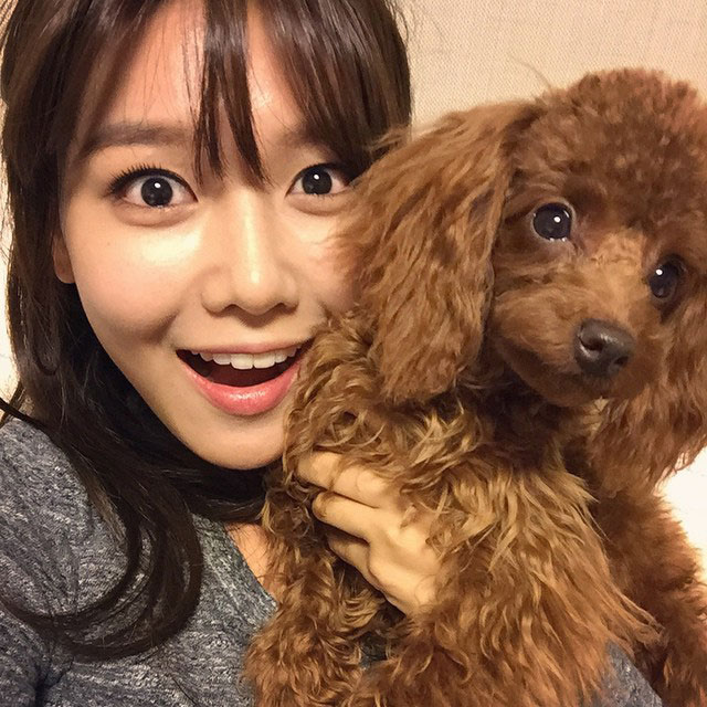 SNSD Sooyoung Instagram pet dog selca