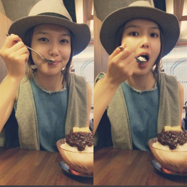 SNSD Sooyoung Instagram shaved ice