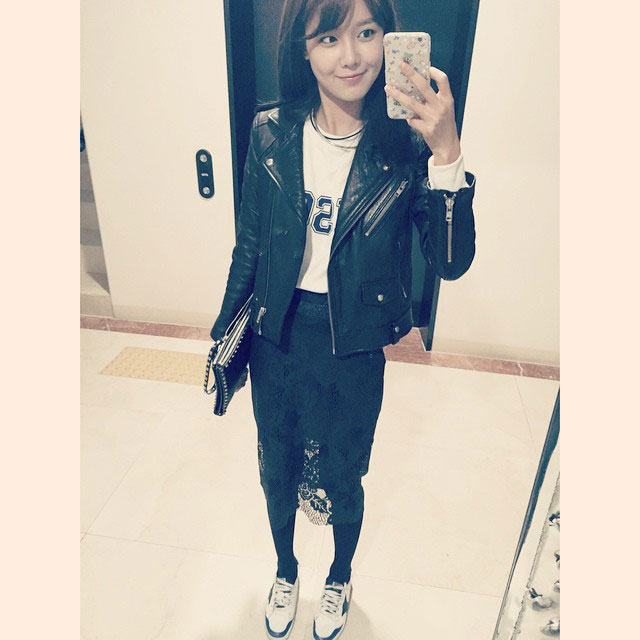 SNSD Sooyoung Instagram 141116 mirror selca