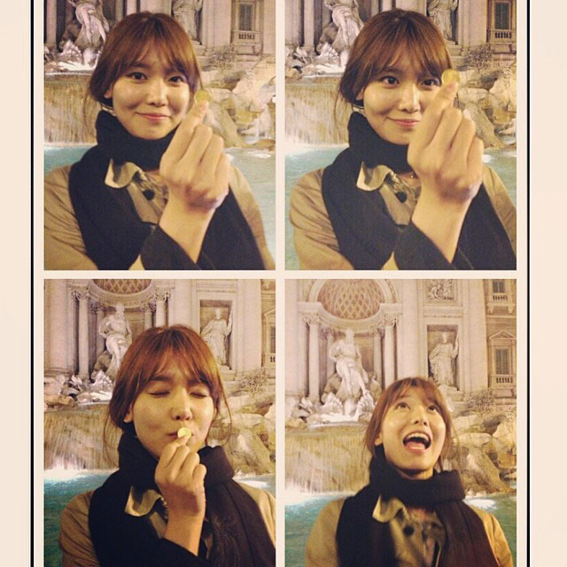 SNSD Sooyoung Instagram Trevi Fountain