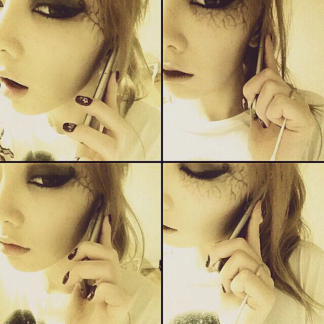 SNSD Taeyeon SMTOWN Halloween makeup