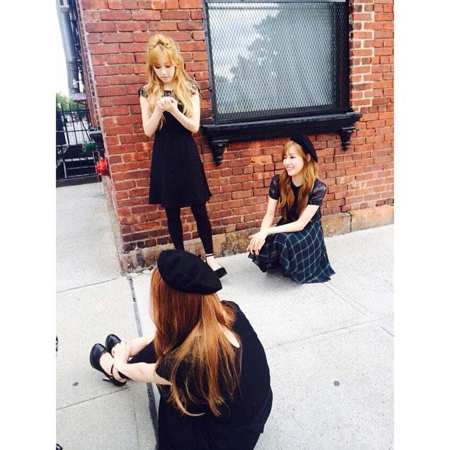 SNSD Taeyeon TaeTiSeo New York Instagram