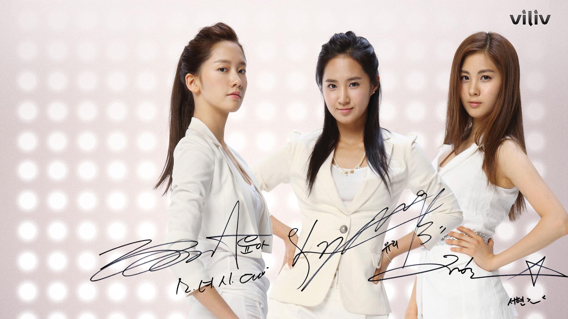 SNSD Yoona Yuri Seohyun Viliv wallpaper 2009