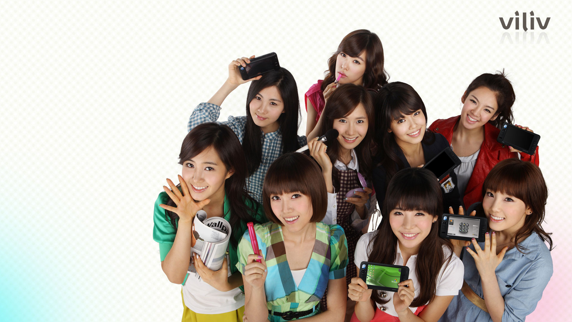 Girls Generation Viliv wallpaper 2009