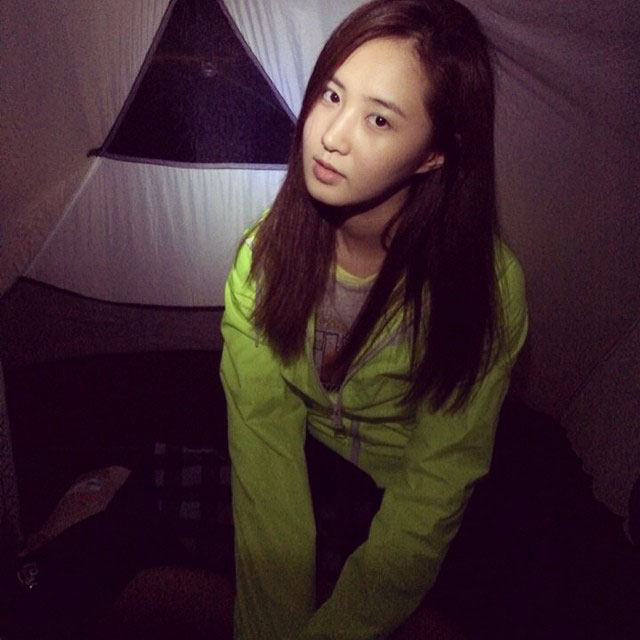 SNSD Yuri Instagram night camping