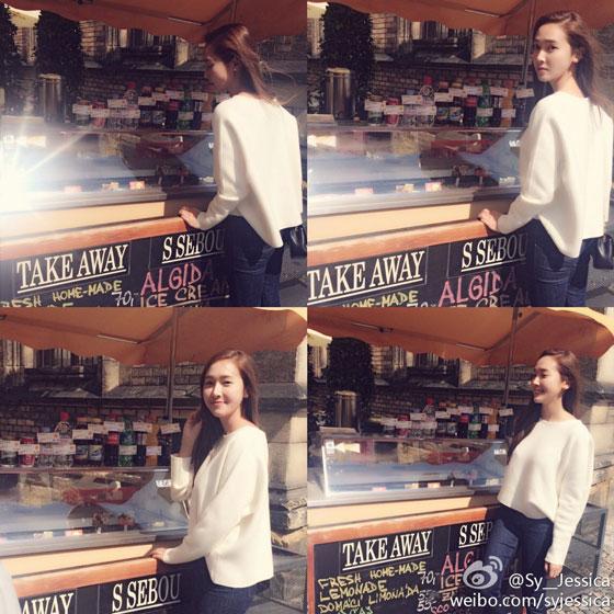 SNSD Jessica Prague Weibo update