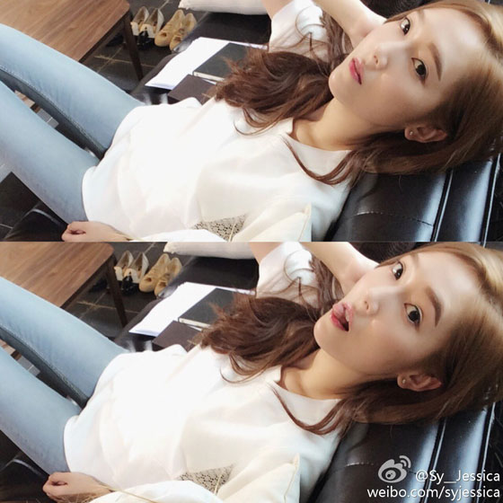 SNSD Jessica airport to LA Weibo update