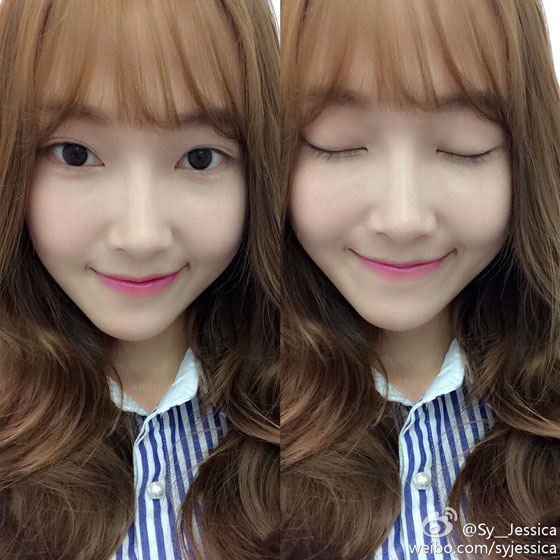SNSD Jessica new hairstyle Weibo selca