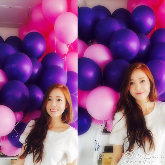 SNSD Jessica sweet day Weibo update