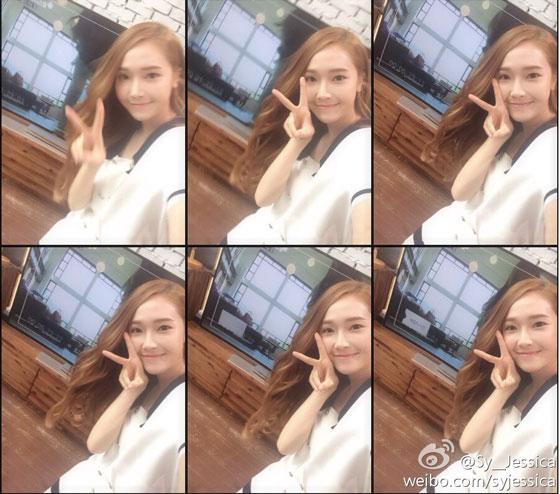 SNSD Jessica Krystal Tv show Weibo update