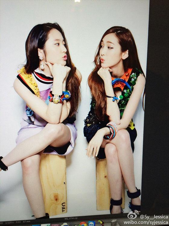 SNSD Jessica Krystal Nylon Weibo update