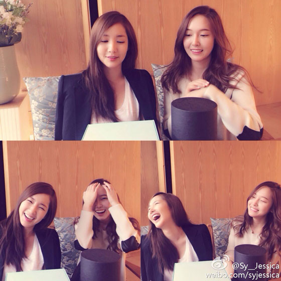 SNSD Jessica Park Min Young Weibo update