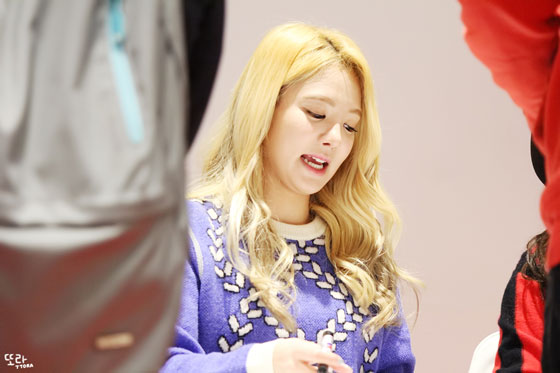 SNSD Hyoyeon Lotte fan signing event 2014