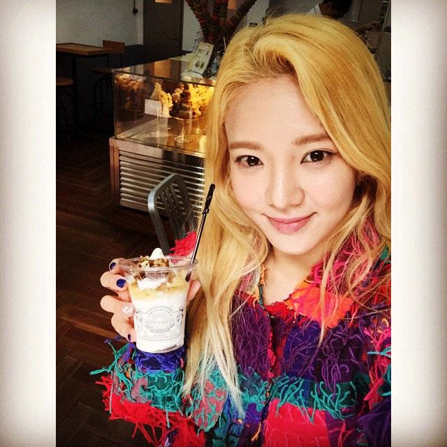 SNSD Hyoyeon Hong Kong ice cream