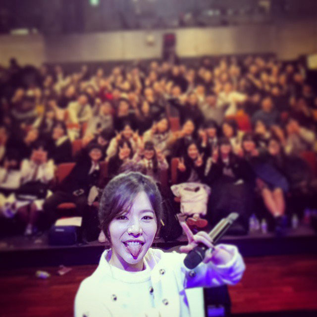 SNSD Sunny radio show Instagram selca